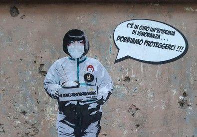 Coronavirus: Rome mural tackles xenophobia
