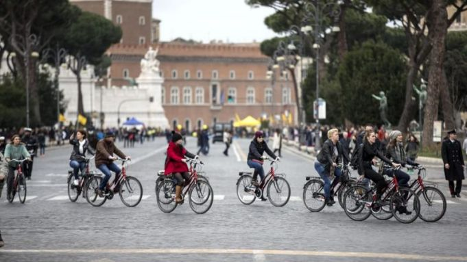 Traffic-free Sunday in Rome on 9 February