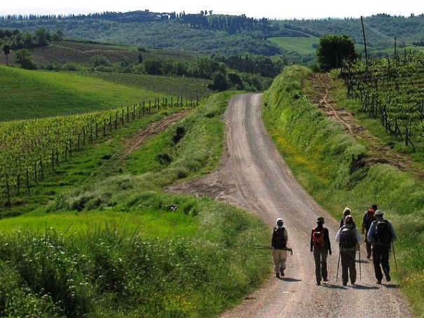 The Via Francigena, an ancient pilgrim route