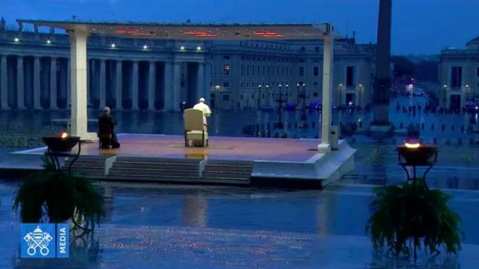 Pope prays for end to coronavirus in empty St Peter's Square