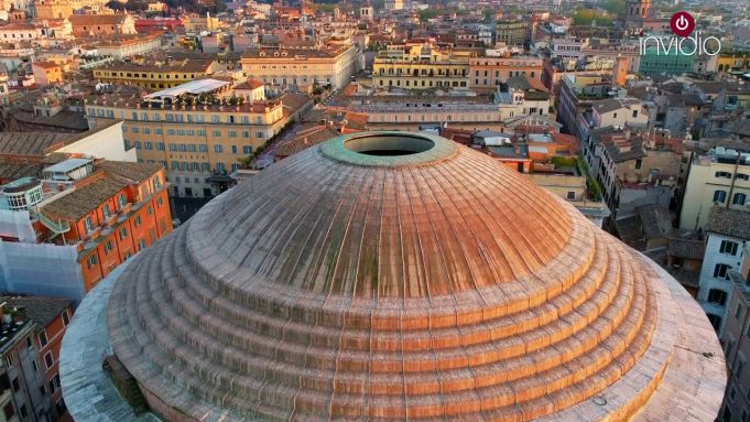 Rome's Pantheon: empty and silent in stunning drone video