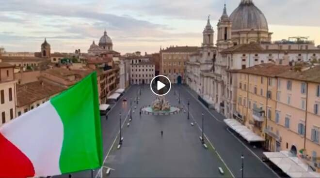 Rome: Morricone music performed over empty Piazza Navona