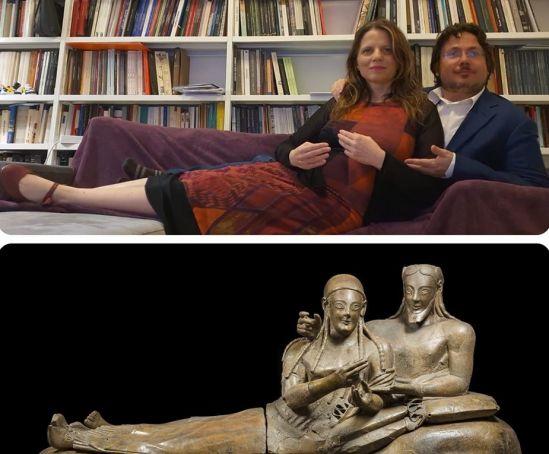 Romans imitate Etruscan art on social media