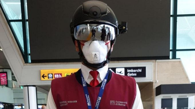 Rome airport uses Smart Helmet to screen for covid-19