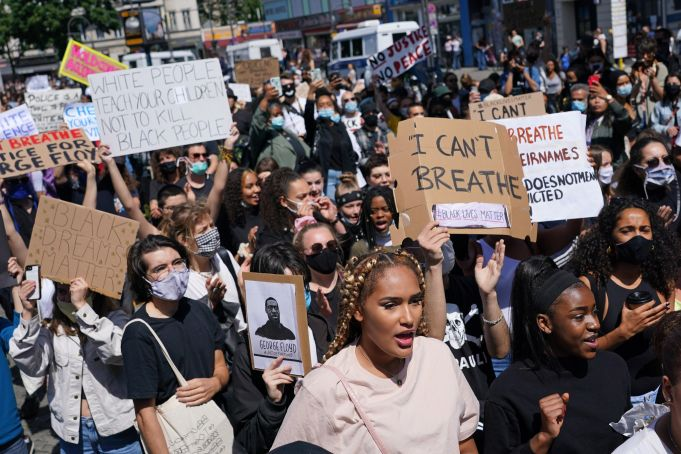 Rome protests murder of George Floyd