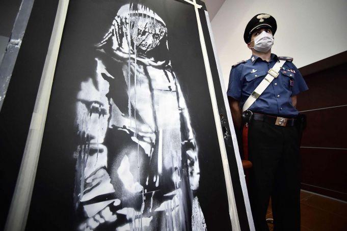 French embassy in Rome shows Banksy's stolen Bataclan door