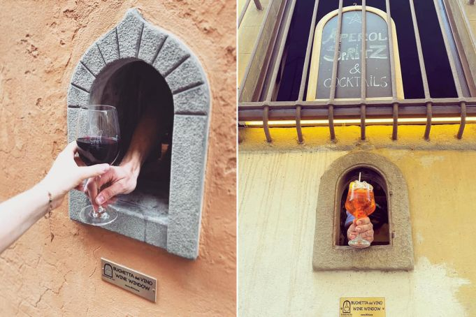 Covid-19 revives plague 'wine window' tradition in Italy