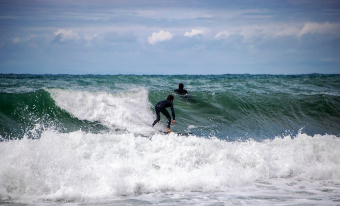 Surfing in Liguria