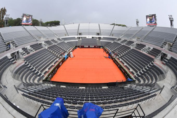 Rome: World's tennis stars compete behind closed doors