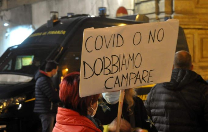 Italy's protests continue as new covid-19 cases near 25,000 in a day