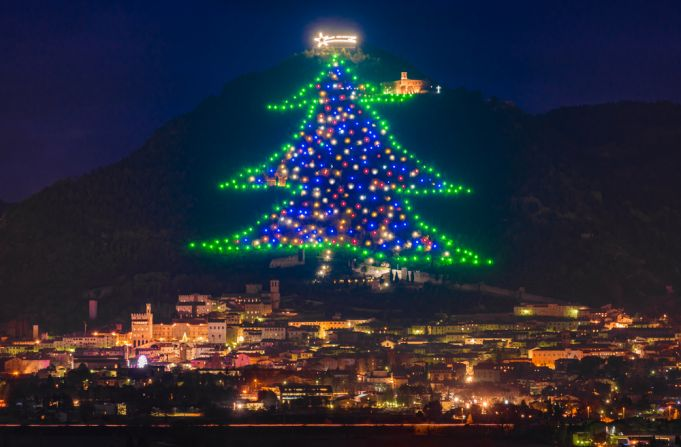 Italy lights up the world's largest Christmas tree