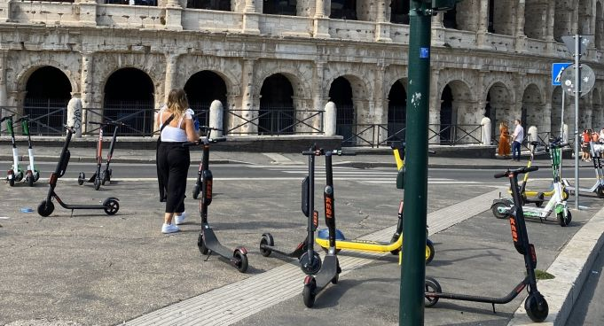 Rome's new off-limits areas for electric scooters