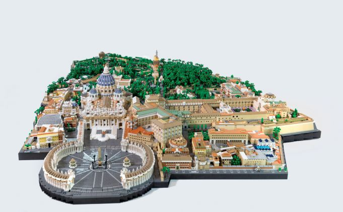 Vatican City recreated with 67,000 pieces of Lego
