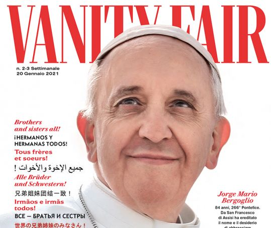 Italy: Pope Francis on cover of Vanity Fair