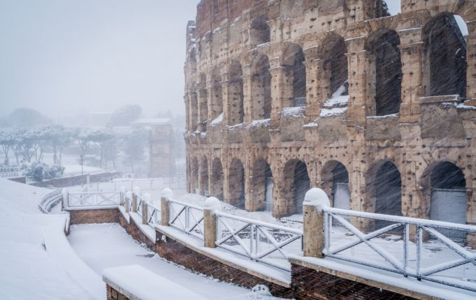 Rome issues snow warning for 15 January