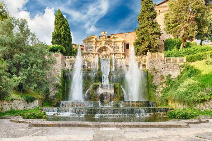 The past and present of Villa D'Este near Rome