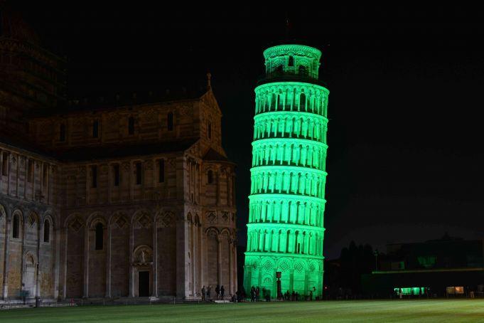 Italian landmarks go green for St Patrick's Day