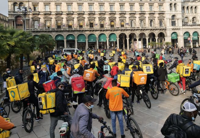 No Delivery Day in Italy as riders strike for rights