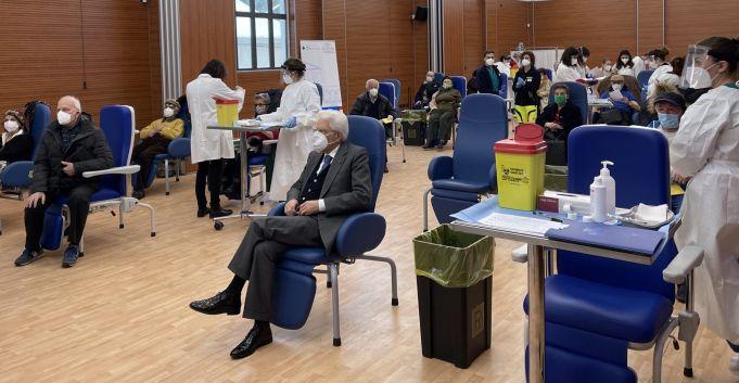 Italy's President Mattarella gets covid-19 vaccine in Rome