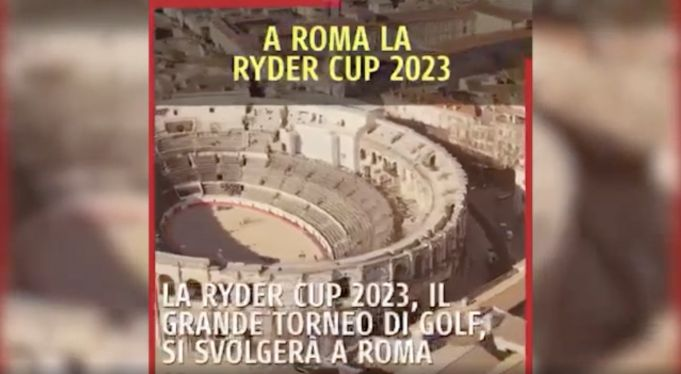 Ryder Cup: Video posted by Rome mayor mixes up Colosseum with Arena of Nîmes