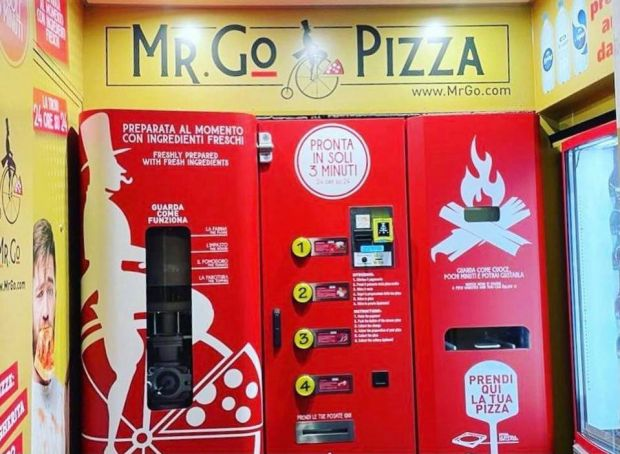 Rome's newest vending machine makes pizza in 3 minutes