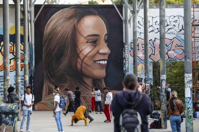 Luana remembered in Rome mural by Jorit