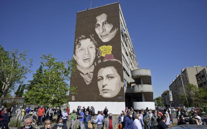 Rome park and mural dedicated to Roman actress Anna Magnani