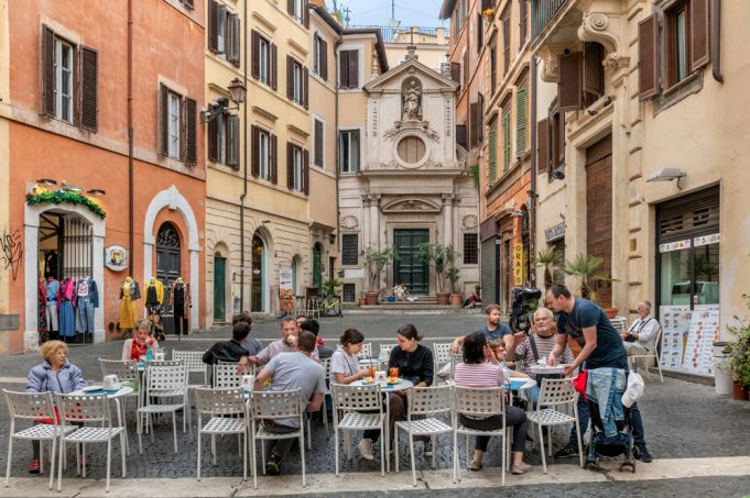 Best places to eat outside in Rome