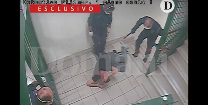 Italy shock video of violence against prisoners