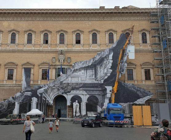 French street artist offers peek into Rome's Palazzo Farnese