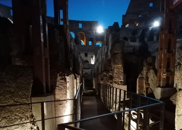 Rome's Colosseum opens underground for night tours