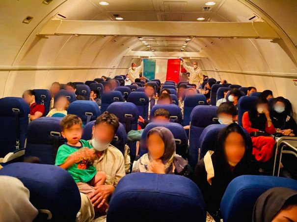 Italy continues to airlift Afghan refugees to Rome