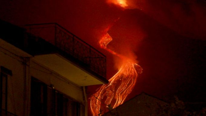 Italy's Mount Etna volcano erupts with dawn explosions of lava and ash clouds