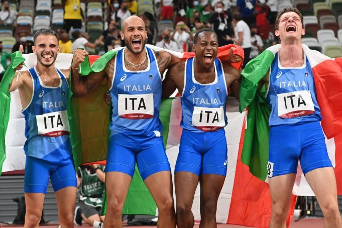 Olympics: Italy wins gold in 4x100m relay race