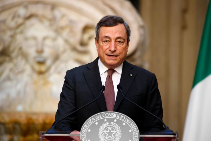 Mario Draghi is the only Italian on TIME 100 list