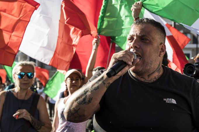 Italy Green Pass protest leader detained in Rome