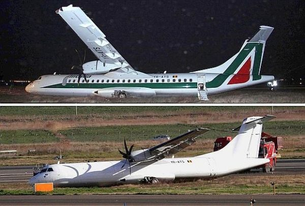 Plane veers off runway at Rome airport - image 4