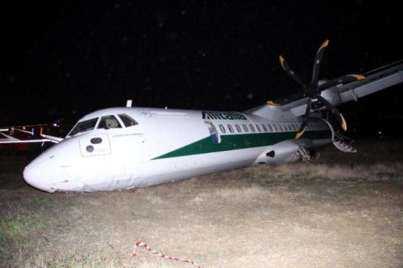 Plane veers off runway at Rome airport - image 1