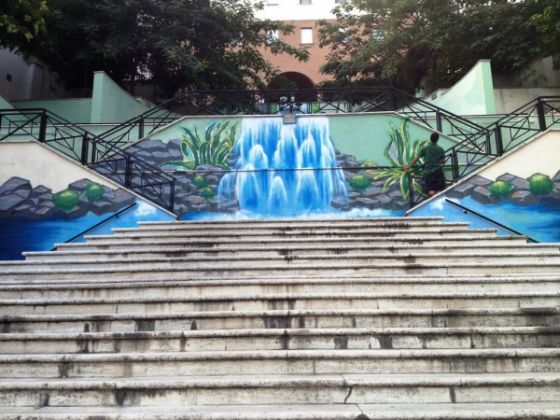 Rome steps transformed by mural - image 3