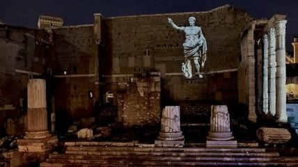 A restoration made of light at the Forum of Augustus - image 2