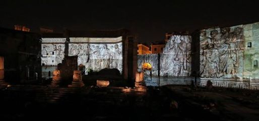 A restoration made of light at the Forum of Augustus - image 3