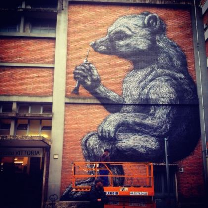 Rome mural dedicated to Daniza the bear - image 1