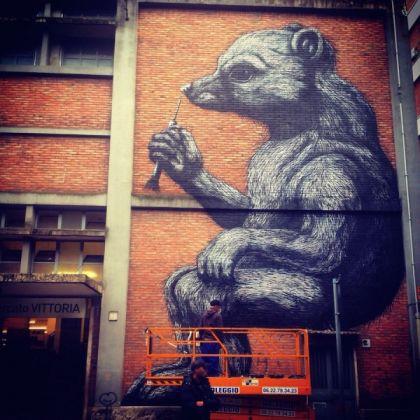 Rome mural dedicated to Daniza the bear - image 1