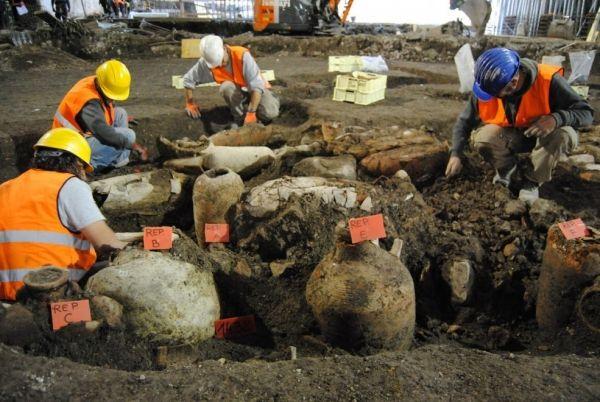 Massive ancient Roman reservoir excavated on Metro C site - image 2