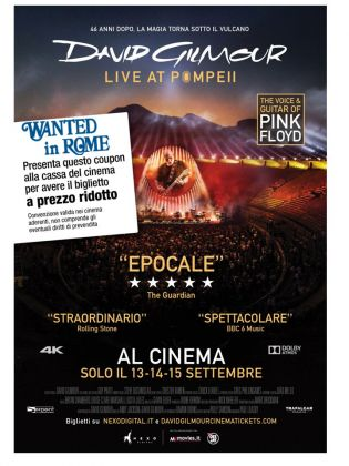 David Gilmour - Live at Pompei special offer for WIR Card Holders - image 2