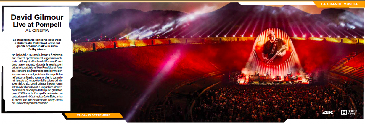 David Gilmour - Live at Pompei special offer for WIR Card Holders - image 4