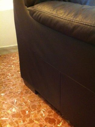 Genuine leather couch - dark brown - image 4