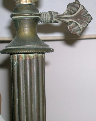 Ancient bronze and brass floor lamp end of XIX Century - image 3