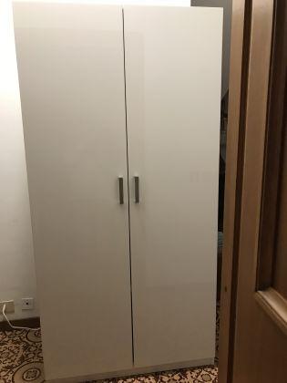 IKEA PAX Wardrobe White and Mirror Doors - image 4