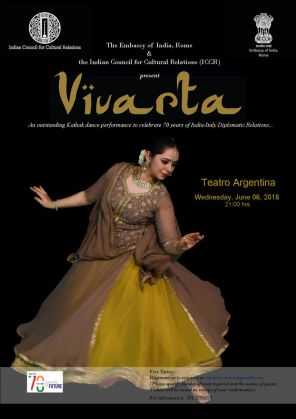 VIVARTA - A Kathak Dance Performance to celebrate 70  years of India-Italy Diplomatic relations - image 1